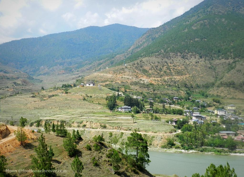 wangdue, lobesa valley, wandue phodrang, bhutan