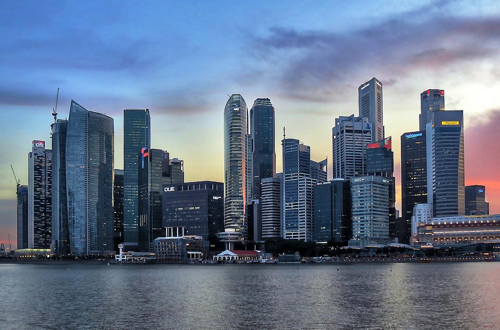 Singapore skyline, singapore