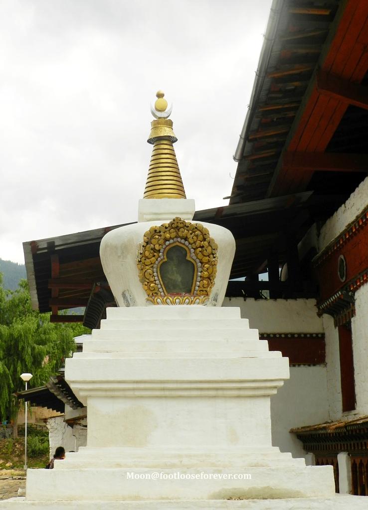 chorten, stupa, kichu monastery, paro, bhutan