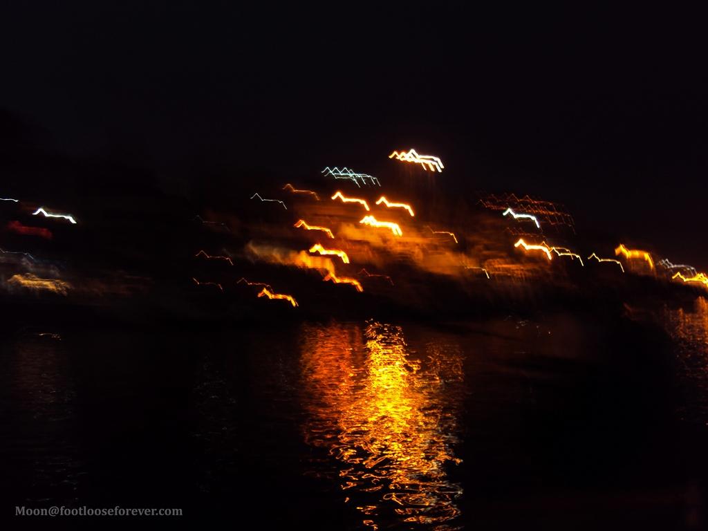 lights, evening aarti, varanasi, india