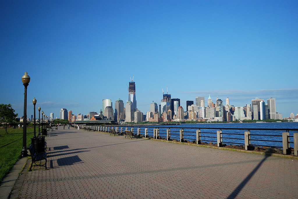 liberty state park, manhattan skyline, jersey city, nj