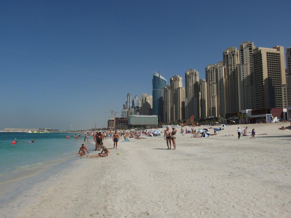 dubai beaches, dubai skyline