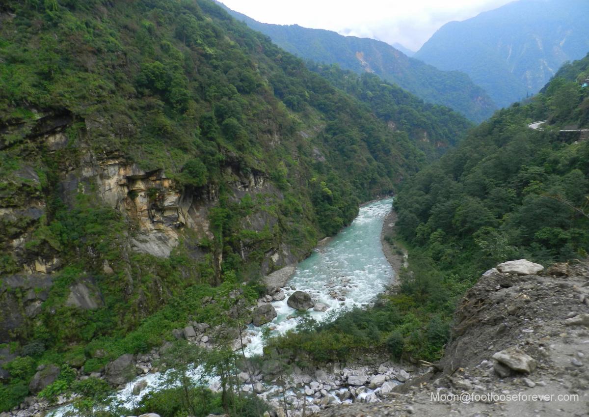 river, stream, lachen, lachung, sikkim