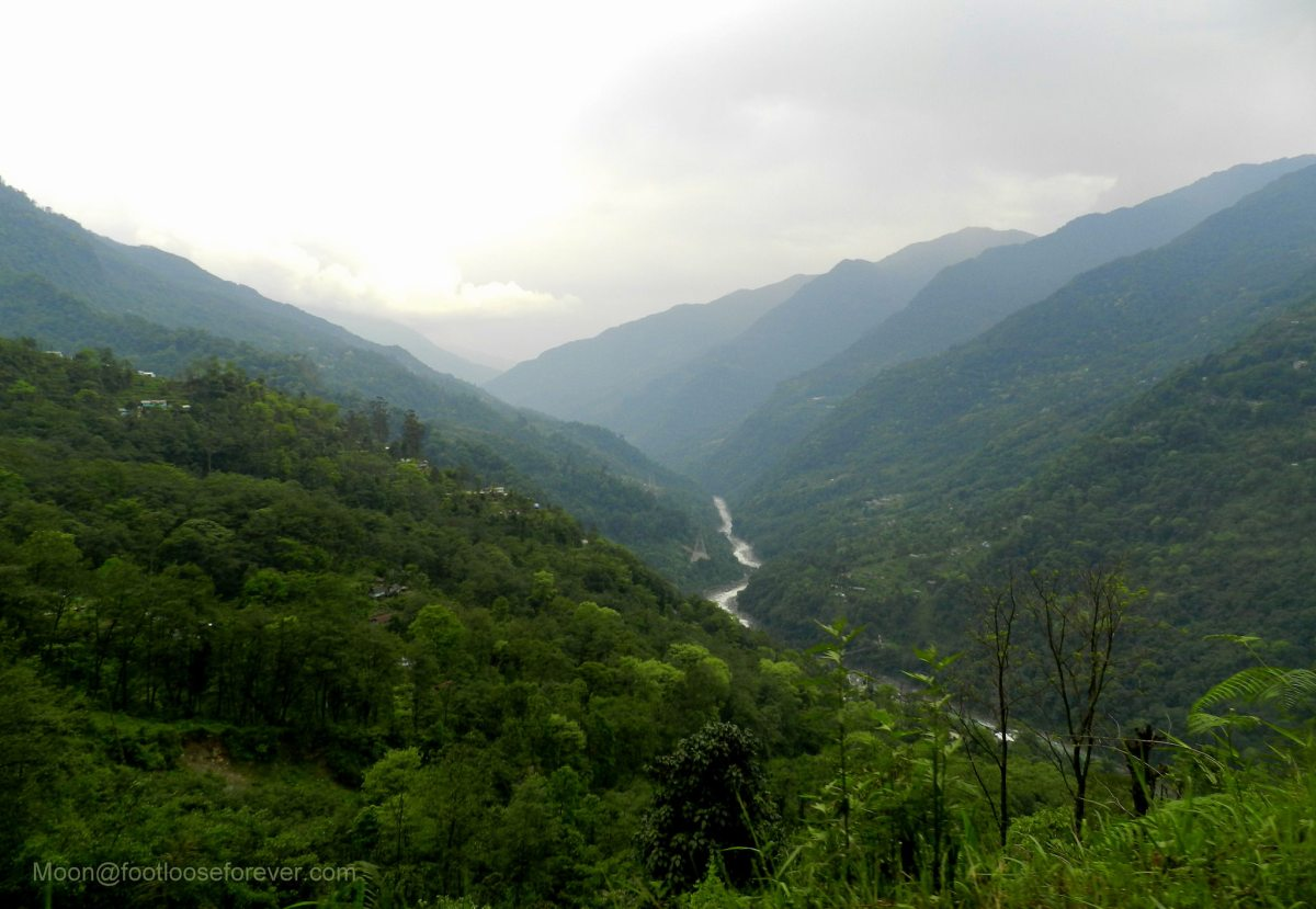 hills, river, mountains, lachung, sikkim, landscape