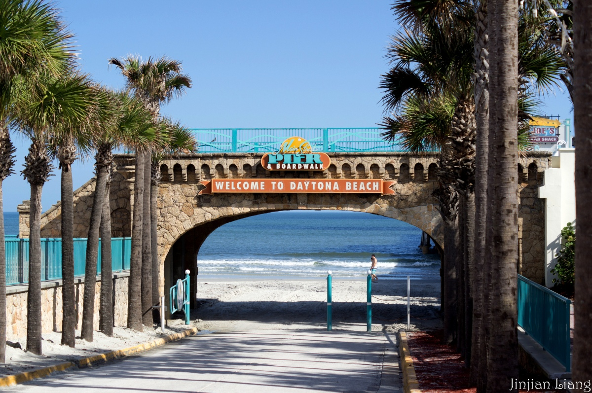 daytona beach boardwalk, florida beach vacation