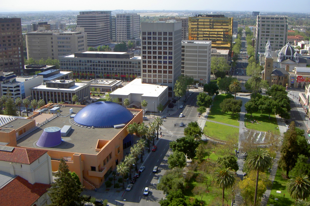 downtown San Jose, California, capital of silicon valley