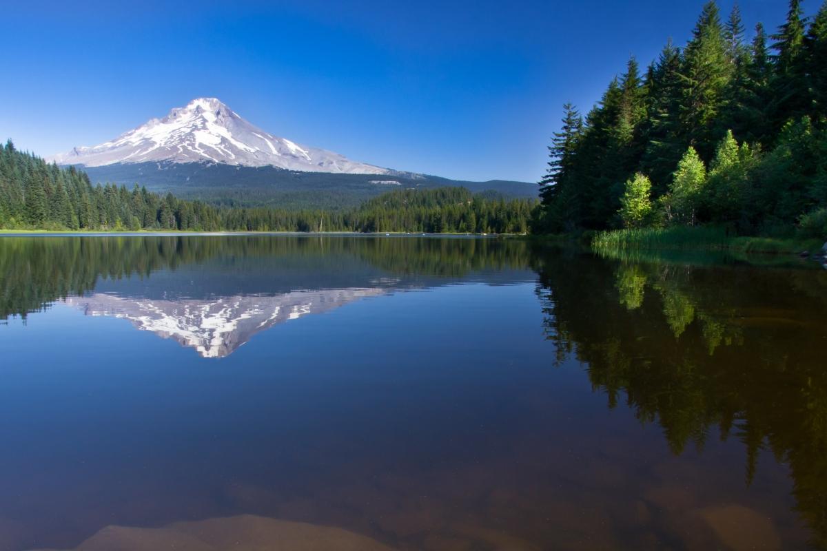 Mount Hood, Trillium lake, Portland, oregon
