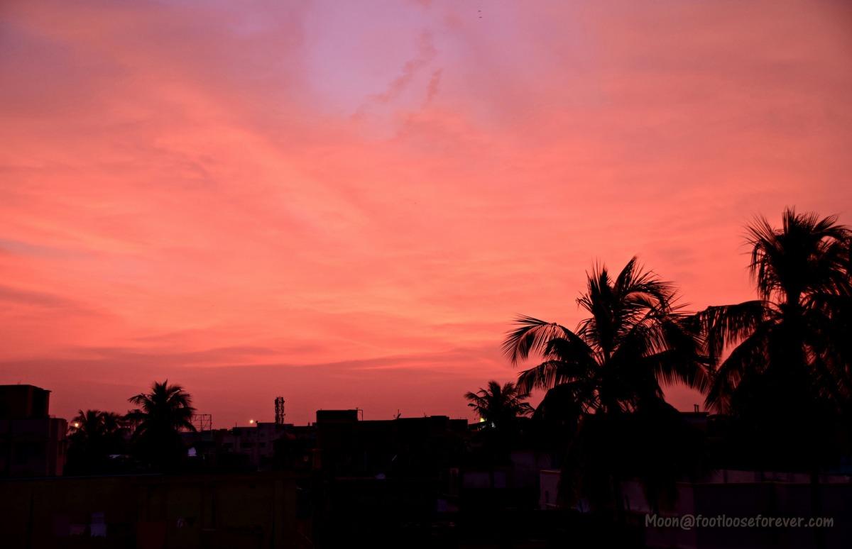 sunset, sky, orange, sunset photo