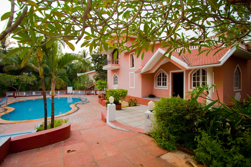 colva beach villa, goa, villa, goa in december