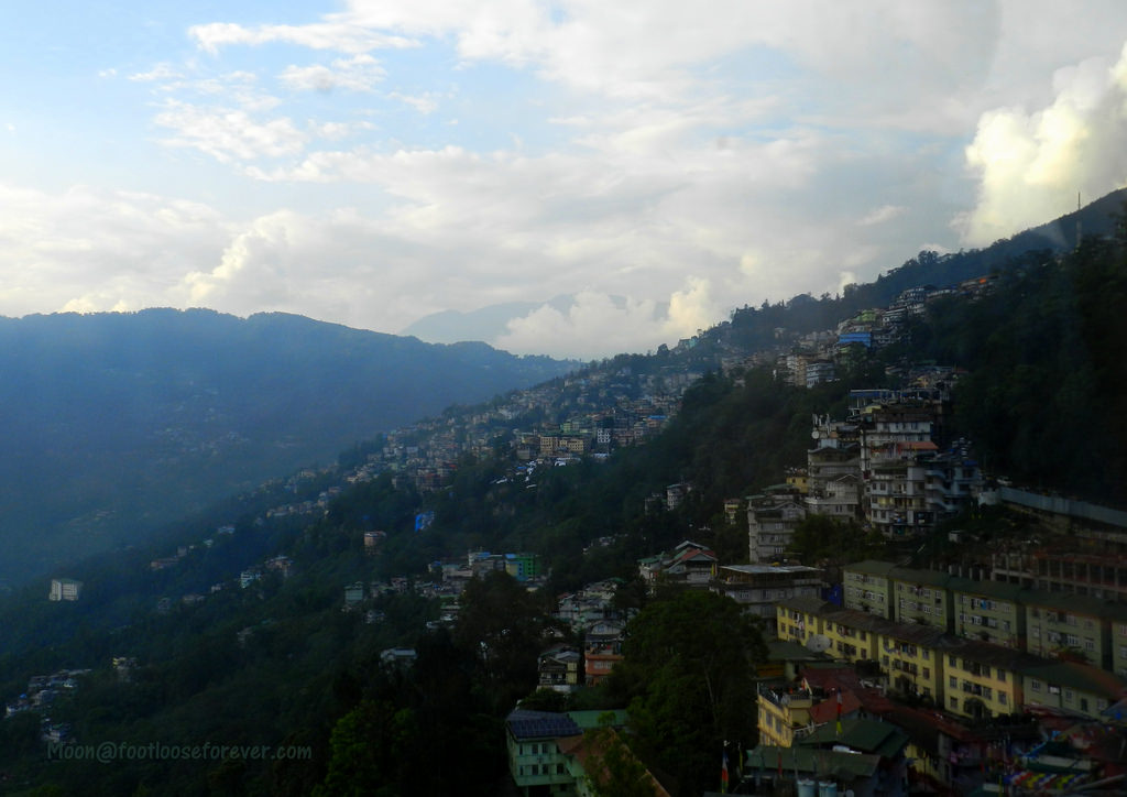 gangtok from ropeway, ropeway ride, gangtok things to do