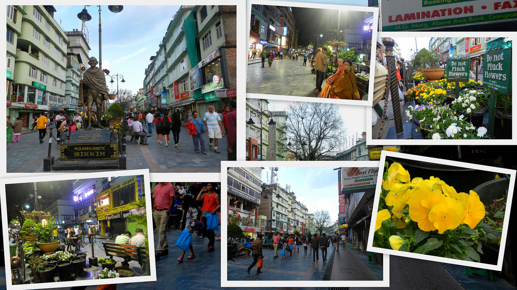mg marg, market, gangtok, sikkim