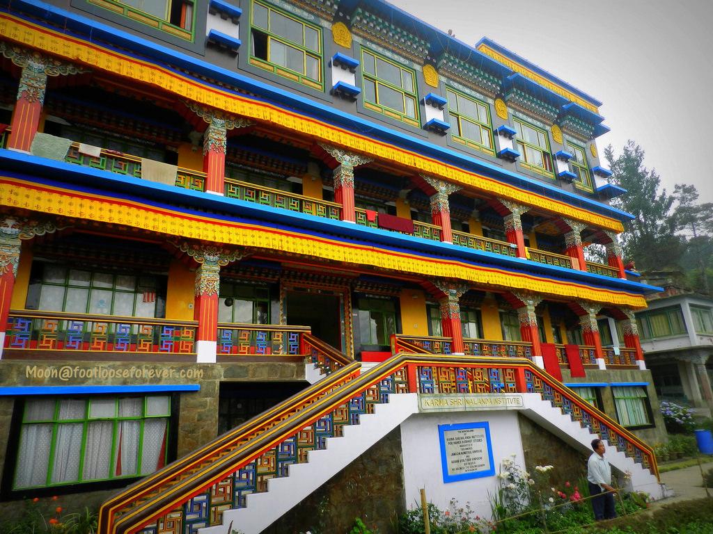 rumtek monastery, gangtok, sikkim, architecture, tibetan architecture