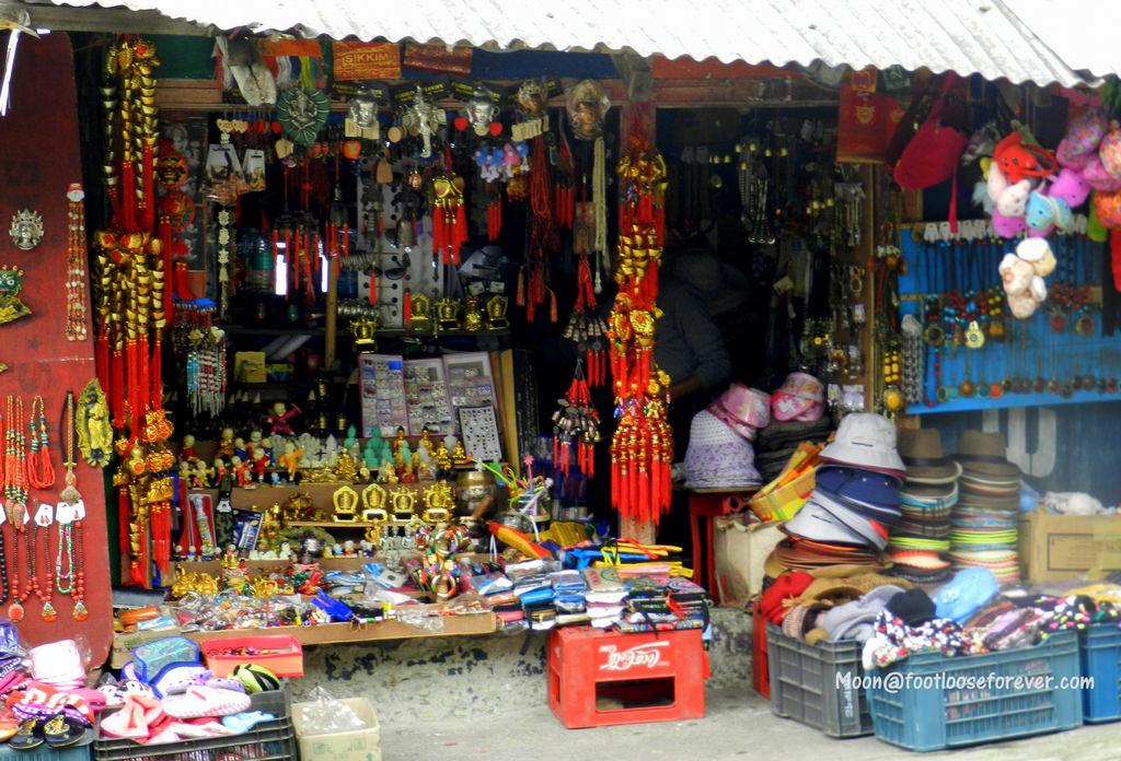 souvenir shop, rumtek monastery, gangtok, sikkim