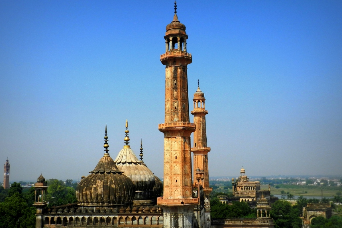 minarets, asafi mosque, lucknow, footlooseforever