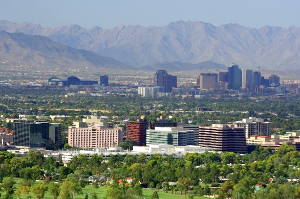 phoenix, phoenix skyline, arizona