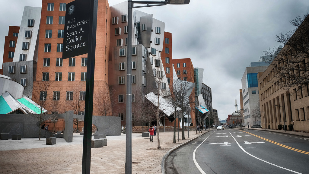 Frank Gehry building MIT, Cambridge, Massachusetts